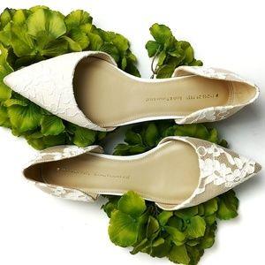 Shoes Of Prey Elegant Lace Flats Size 8